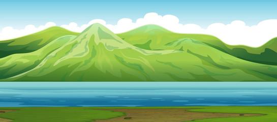 A mountain nature landscape
