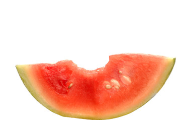 watermelon, slice, isolated on white background