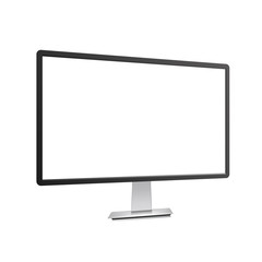 Realistic TV monitor mockup isolated. Vector illustration