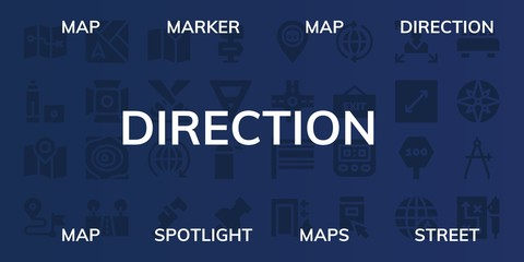 direction icon set