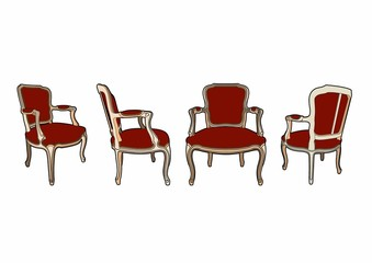 Four chairs of style