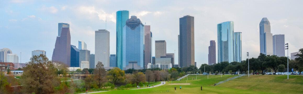 Skyline in dowtown Houston, TX