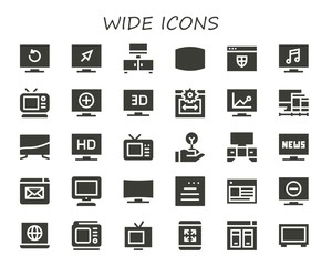 wide icon set