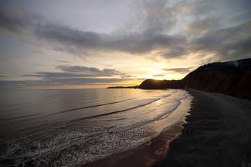 Sidmouth Beach Sun Set
