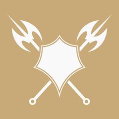 Axe and shield badge.