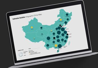 China Map Infographic Layout