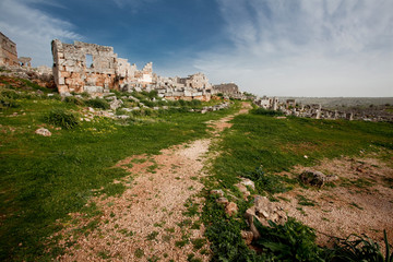 Dead city of Serjilla. Syria