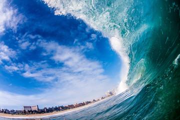 Foto op Plexiglas Inspirerende boodschap Breaking Wave in Viña del Mar, Chile