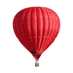 Poster Montgolfière / Dirigeable Bright red hot air balloon on white background