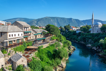 Nerevta River Passing Through Mostar, Bosnia