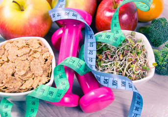 Healthy diet, weight loss - concept of healthy eating.