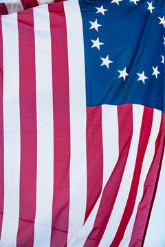 American 13 point historic flag often named the Betsy Ross flag, t