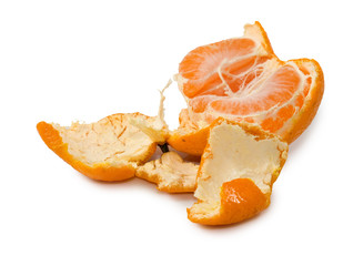 Fototapete - isolated image of mandarin close up