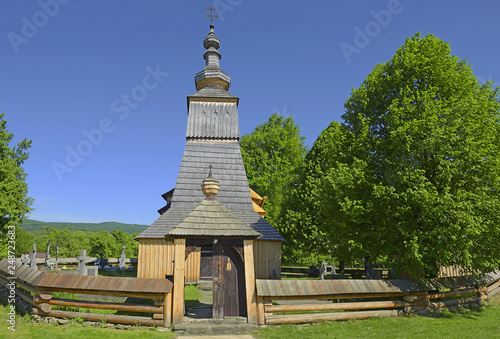 Greek Catholic wooden church in Ladomirova, UNESCO World Heritage