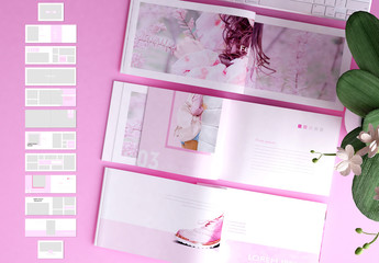 Pink and White Catalog Layout