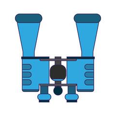 binoculars spy device symbol blue lines