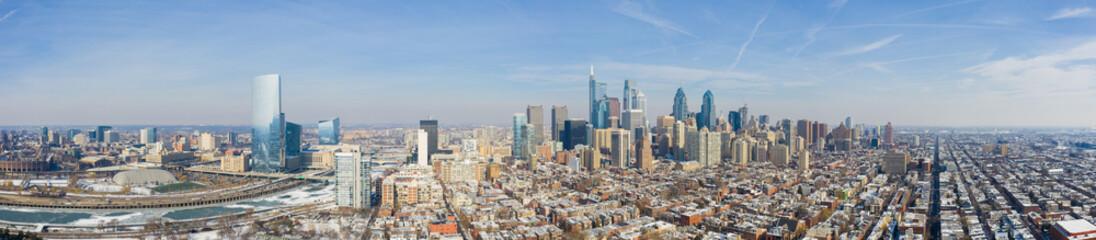 Aerial panorama Downtown Philadelphia PA USA Wall mural