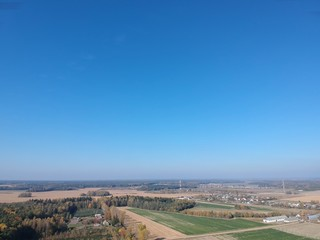 panoramic view of rural landscape in Belarus in autumn