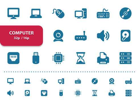Computer Icons (2x magnification for preview)