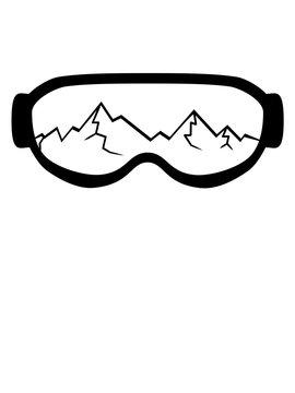 risse kaputt gesprungen berge fahren snowboard ski winter brille schnee schutzbrille sonnenbrille augen clipart logo design urlaub sport
