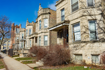 Row of Homes in Logan Square Chicago