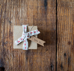 Tiny gift box with love