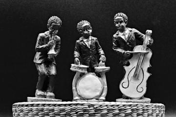Musicos de una banda de jazz