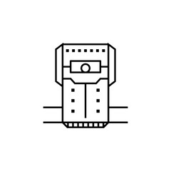chamber, crew, cryogenic, room, space icon. Element of future pack for mobile concept and web apps icon. Thin line icon for website design and development, app development