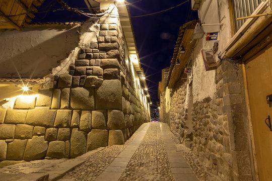 Cusco, Peru, -January 2019 ,Hatun Rumiyoc Street (Cusco City) Peru