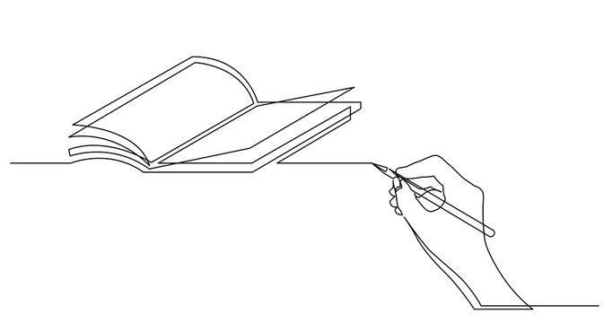 hand drawing business concept sketch of book