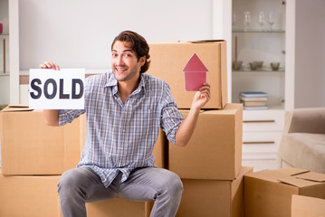 Young man selling his house
