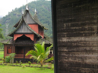 Traditional House of Minangkabau People in West Sumatra