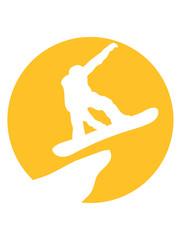 berge sonne klippe mond nacht fahren snowboard sprung springen stunt spaß sport winter urlaub ferien ski piste schnell kalt clipart umriss silhouette snowboarden brett sprungchance design logo
