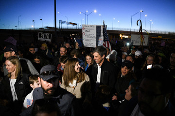 O'Rourke, the Democratic former Texas congressman, participates in a march in El Paso