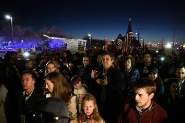 O'Rourke, the Democratic former Texas congressman, participates in a march in El Paso
