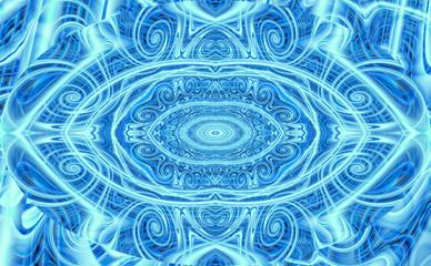 Fotobehang Fractal waves Abstract 625