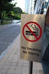 No smoking no waping