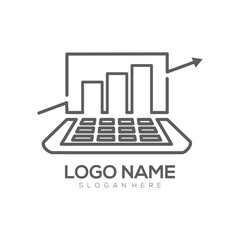 Computer logo design and icon