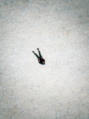 Man flyind a drone in Uyuni Bolivia