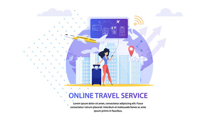 Online Travel Service. Tourism Vacation Planning.