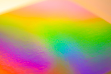 a colorful hologram paper