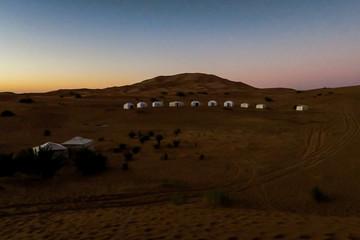 sunset in desert, photo as background
