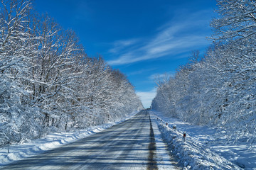 Image of a winter road.