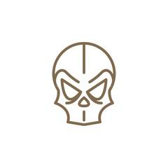 Dark skull vector