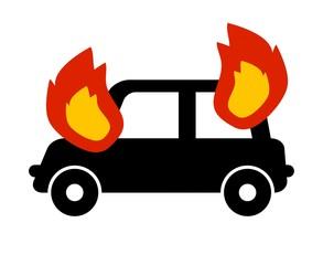車から発火