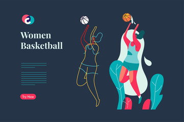 Basketball Women mockup web design