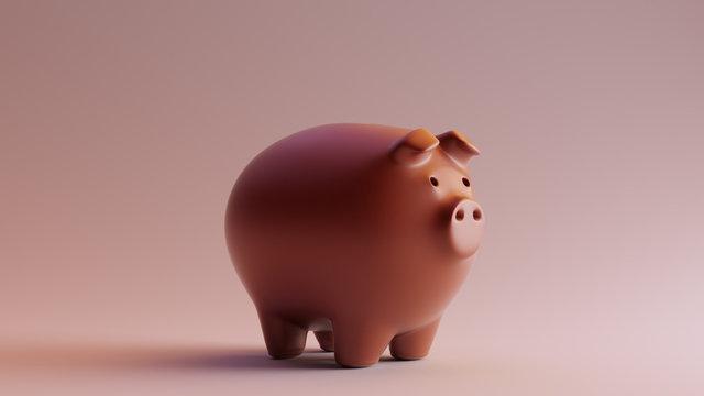 Chocolate Clay Piggy Bank