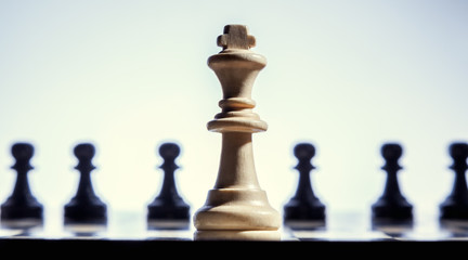 Chess king close up