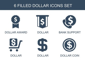 6 dollar icons