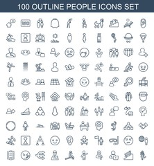 100 people icons